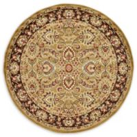 Unique Loom Asheville 6' Round Power-Loomed Area Rug in Tan