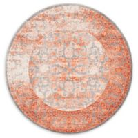 Unique Loom Arcadia 6' Round Power-Loomed Area Rug in Terracotta