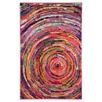 Unique Loom Barcelona 5' x 8' Power-Loomed Multicolor Area Rug