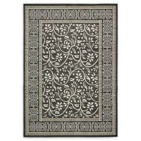 Unique Loom Atlanta 7' x 10' Power-Loomed Area Rug in Black