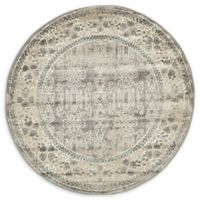 Unique Loom Salzburg 4' Round Power-Loomed Accent Rug in Grey