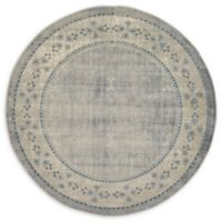 Unique Loom Salzburg 7' Round Power-Loomed Area Rug in Grey