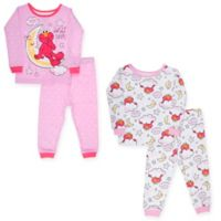 Sesame Street® Size 4T 4-Piece Elmo in the Moon Pajama Set in Pink
