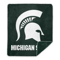 Michigan State University Denali Sliver Knit Throw Blanket