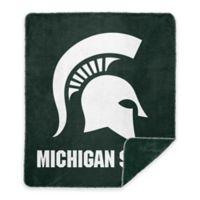 Michigan State University Denali Sliver Knit Throw Blanket