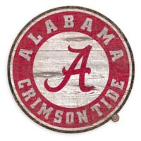 University of Alabama 24-Inch Round Distressed Sign