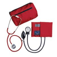 MABIS MatchMates® Sphygmomanometer and Dual Head Stethoscope Combo Kit in Red