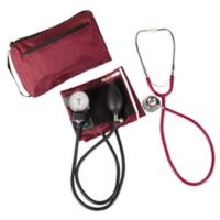 MABIS MatchMates® Sphygmomanometer and Dual Head Stethoscope Combo Kit in Burgundy