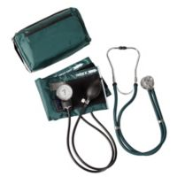 MatchMates Aneroid Sphygmomanometer and Sprague Rappaport Stethoscop Kit in Hunter Green