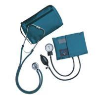 MatchMates Aneroid Sphygmomanometer and Sprague Rappaport Stethoscop Kit in Teal