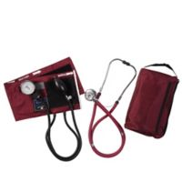 MatchMates Aneroid Sphygmomanometer and Sprague Rappaport Stethoscop Kit in Burgundy