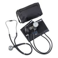 MatchMates Aneroid Sphygmomanometer and Sprague Rappaport Stethoscop Kit in Black