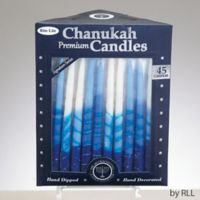 Rite Lite 45-Pack Hanukkah Candles in Blue/White