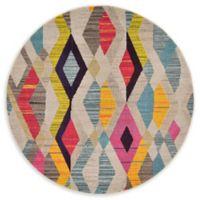 Unique Loom Sedona 6' Round Power-Loomed Multicolor Area Rug