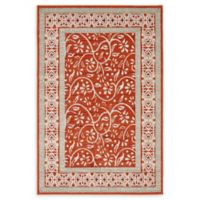 Unique Loom Transitional 4' x 6' Area Rug in Rust Red