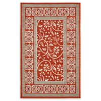 Unique Loom Transitional 5' x 8' Area Rug in Rust Red