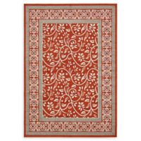 Unique Loom Transitional 7' x 10' Area Rug in Rust Red