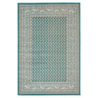Unique Loom Tribeca 4' x 6' Power-Loomed Area Rug in Teal