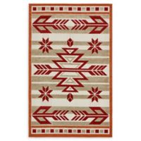 Unique Loom Albuquerque 5' x 8' Power-Loomed Area Rug in Burgundy