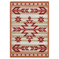 Unique Loom Albuquerque 7' x 10' Power-Loomed Area Rug in Burgundy