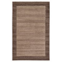 Unique Loom Del Mar 5' x 8' Power-Loomed Area Rug in Light Brown