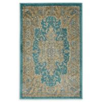 Unique Loom Turkish Stockholm 2' x 3' Power-Loomed Accent Rug in Teal
