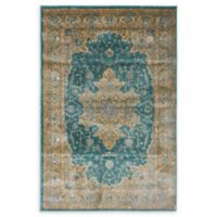 Unique Loom Turkish Stockholm 4' x 6' Power-Loomed Area Rug in Teal