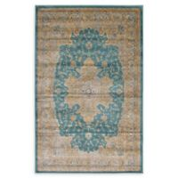 Unique Loom Turkish Stockholm 5' x 8' Power-Loomed Area Rug in Teal