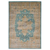 Unique Loom Turkish Stockholm 6' x 9' Power-Loomed Area Rug in Teal