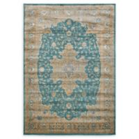 Unique Loom Turkish Stockholm 7' x 10' Power-Loomed Area Rug in Teal