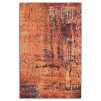 Unique Loom Barcelona 5' x 8' Power-Loomed Area Rug in Orange