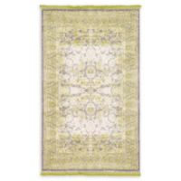 Unique Loom Apollo Arcadia 3' x 5' Power-Loomed Area Rug in Light Green