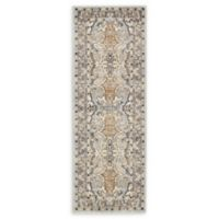 Unique Loom Heritage 2'2 x 6' Power-Loomed Runner in Silver