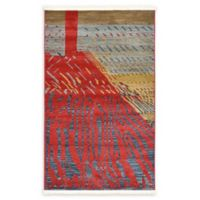 Unique Loom Anastacia Nomad 3' x 5' Power-Loomed Area Rug in Red