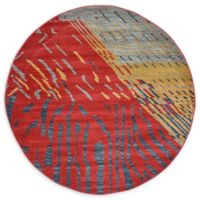 Unique Loom Anastacia Nomad 6' Round Power-Loomed Area Rug in Red