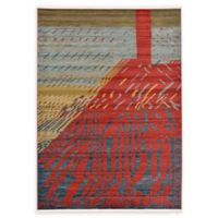 Unique Loom Anastacia Nomad 7' x 10' Power-Loomed Area Rug in Red
