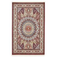 Unique Loom Adams Nain 5' x 8' Power-Loomed Area Rug in Burgundy