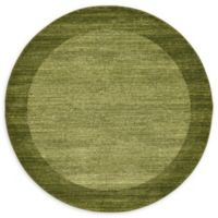Unique Loom Del Mar 6' Round Power-Loomed Area Rug in Light Green