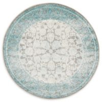 Unique Loom Apollo Arcadia 4' Round Power-Loomed Accent Rug in Light Grey