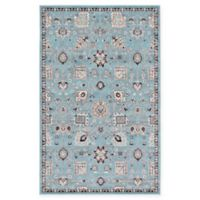 Unique Loom Lily Heritage 5' x 8' Power-Loomed Area Rug in Light Blue