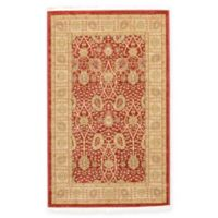 Unique Loom Adel Heritage 3'x5' Power-Loomed Area Rug in Red