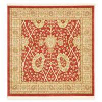 Unique Loom Adel Heritage 4'x4' Power-Loomed Area Rug in Red