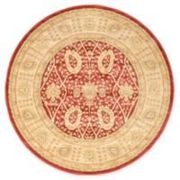 Unique Loom Adel Heritage 6' Round Power-Loomed Area Rug in Red