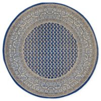 Unique Loom Tribeca 5' Round Area Rug in Blue