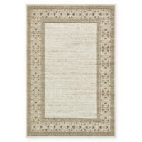 Casual Botanical Transitional 4' x 6' Indoor/Outdoor Area Rug in Cream