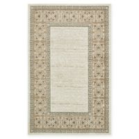 Casual Botanical Transitional 5' x 8' Indoor/Outdoor Area Rug in Cream