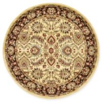Unique Loom Asheville Agra 6' Round Power-Loomed Area Rug in Cream
