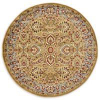 Unique Loom Ashville Floral 6' Round Rug in Dark Yellow