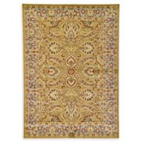 Unique Loom Ashville Floral 7' x 10' Area Rug in Dark Yellow