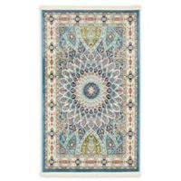 Unique Loom Adams 3' x 5' Area Rug in Blue